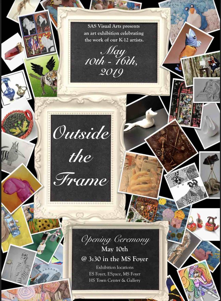 Annual Kindergarten to Twelfth Grade Art Exhibition: Outside the Frame